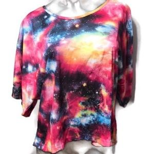 Tie Dye Tee Shirt Stars Galaxy New by Angela